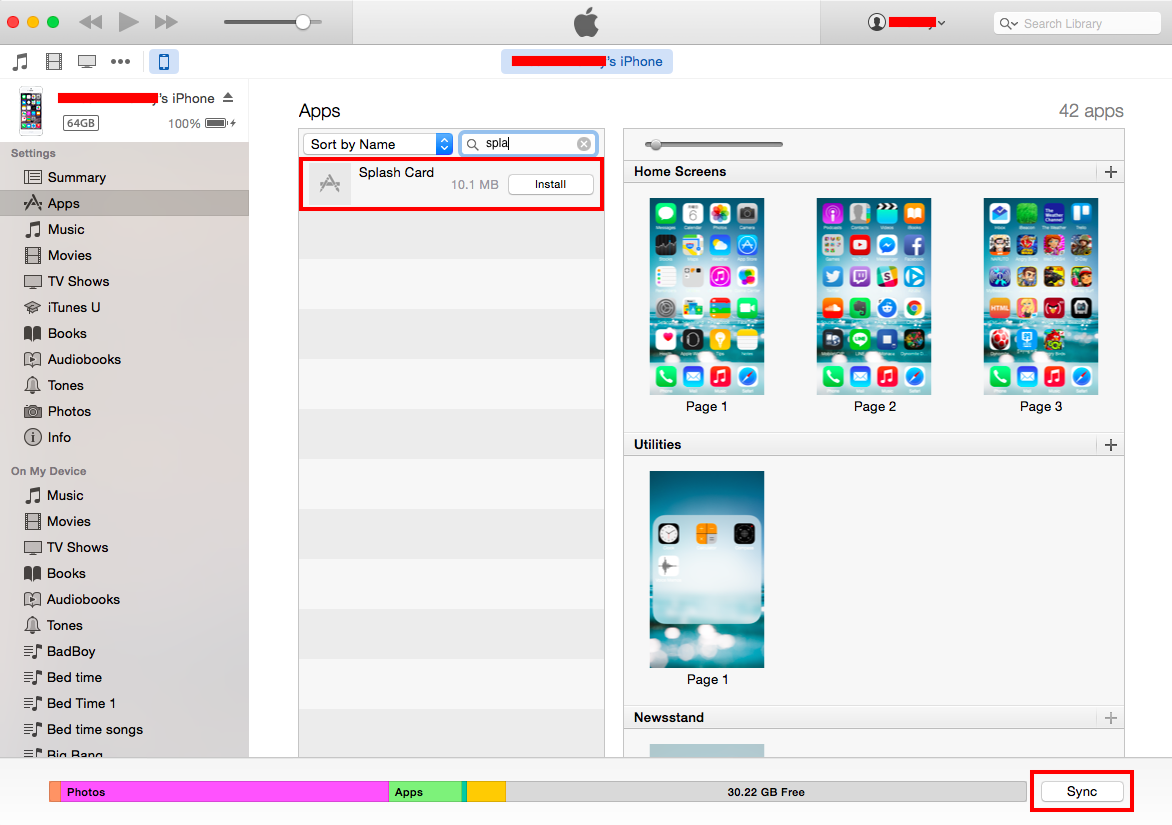 How to get apps from iphone to itunes