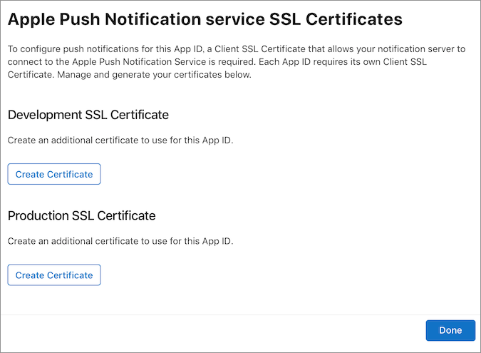 iOS App Push Notification Settings | Monaca Docs