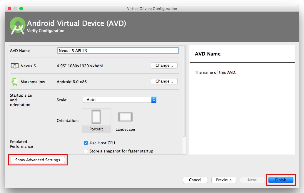 how to run android studio emulator on mac