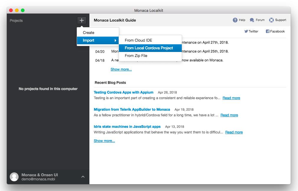Guide for PhoneGap Desktop App Users   Monaca Docs