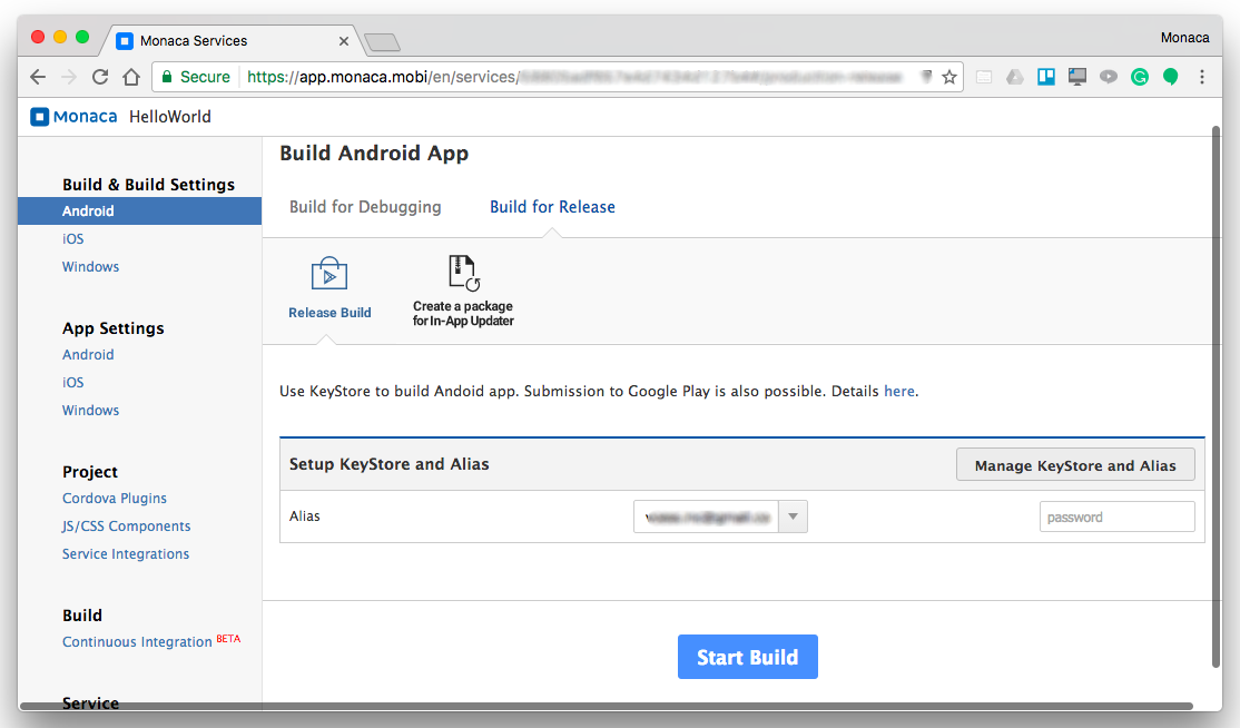 Building for Android | Monaca Docs