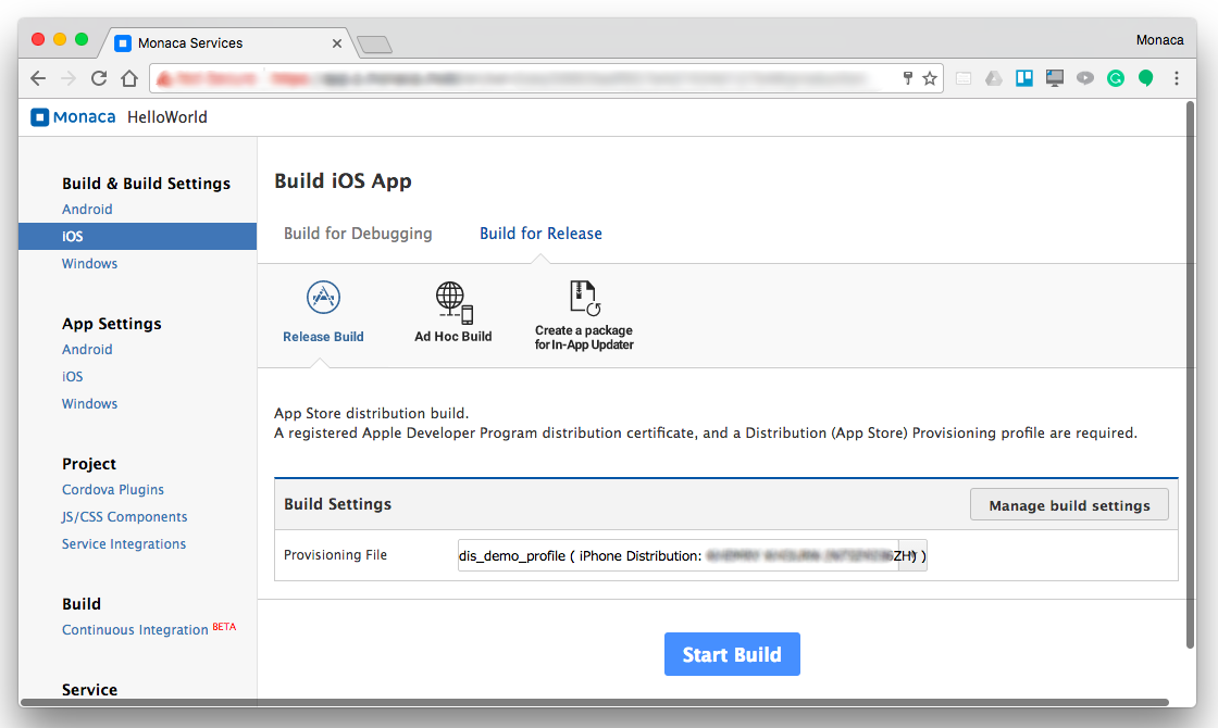 Building An Ios App Monaca Docs