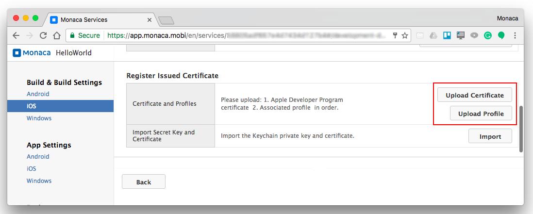 Build Settings Between Monaca And Xcode Monaca Docs