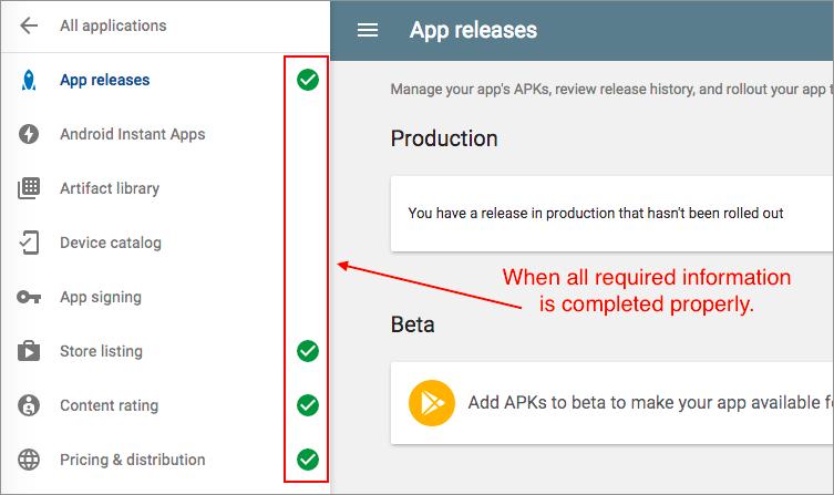 Google Play Distribution | Monaca Docs