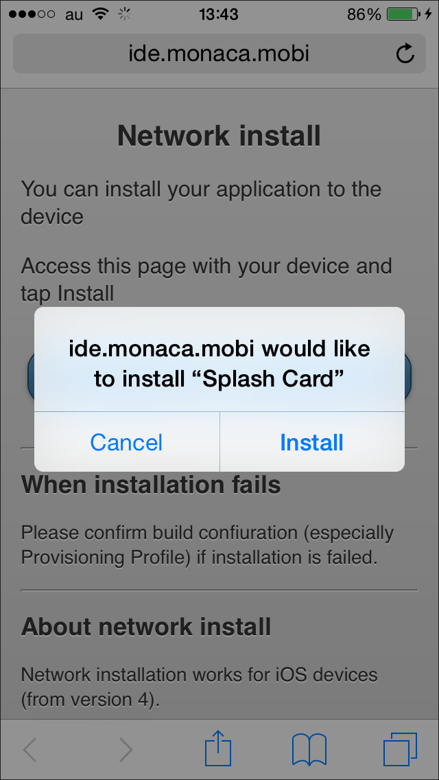Non-market App Distribution | Monaca Docs