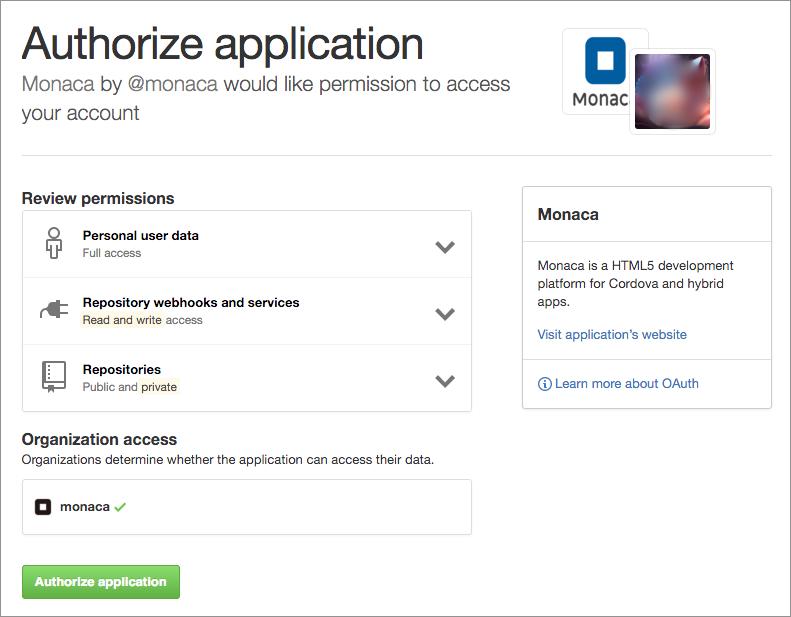 GitHub Integration | Monaca Docs