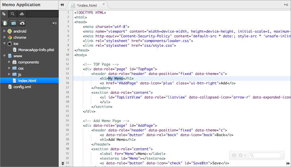 Part 2: Running Monaca Debugger with Monaca Cloud IDE