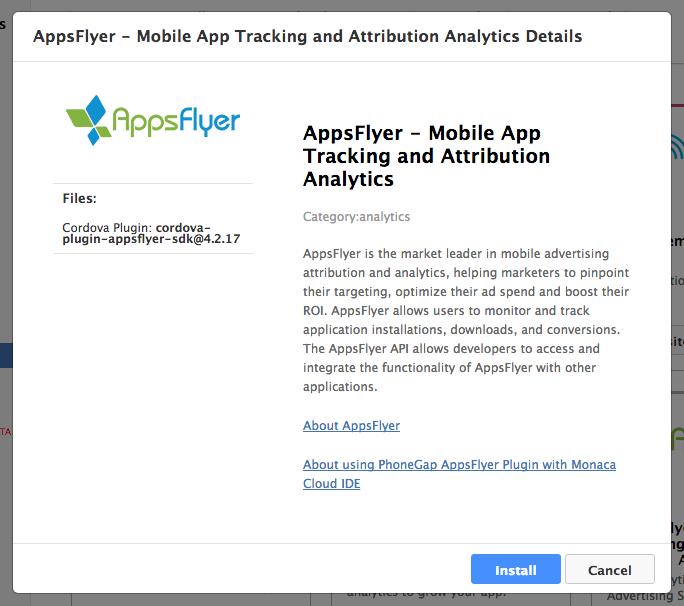 AppsFlyer   Monaca Docs
