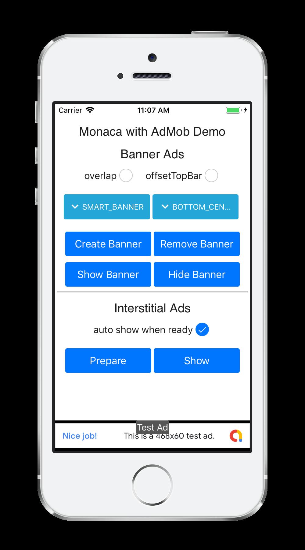AdMob Demo | Monaca Docs