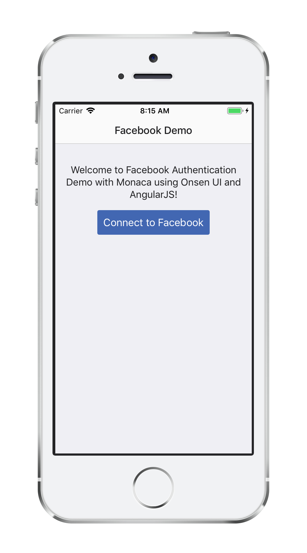 Facebook Single Sign-on App | Monaca Docs