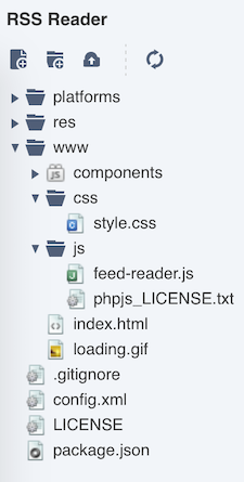 RSS Reader App   Monaca Docs