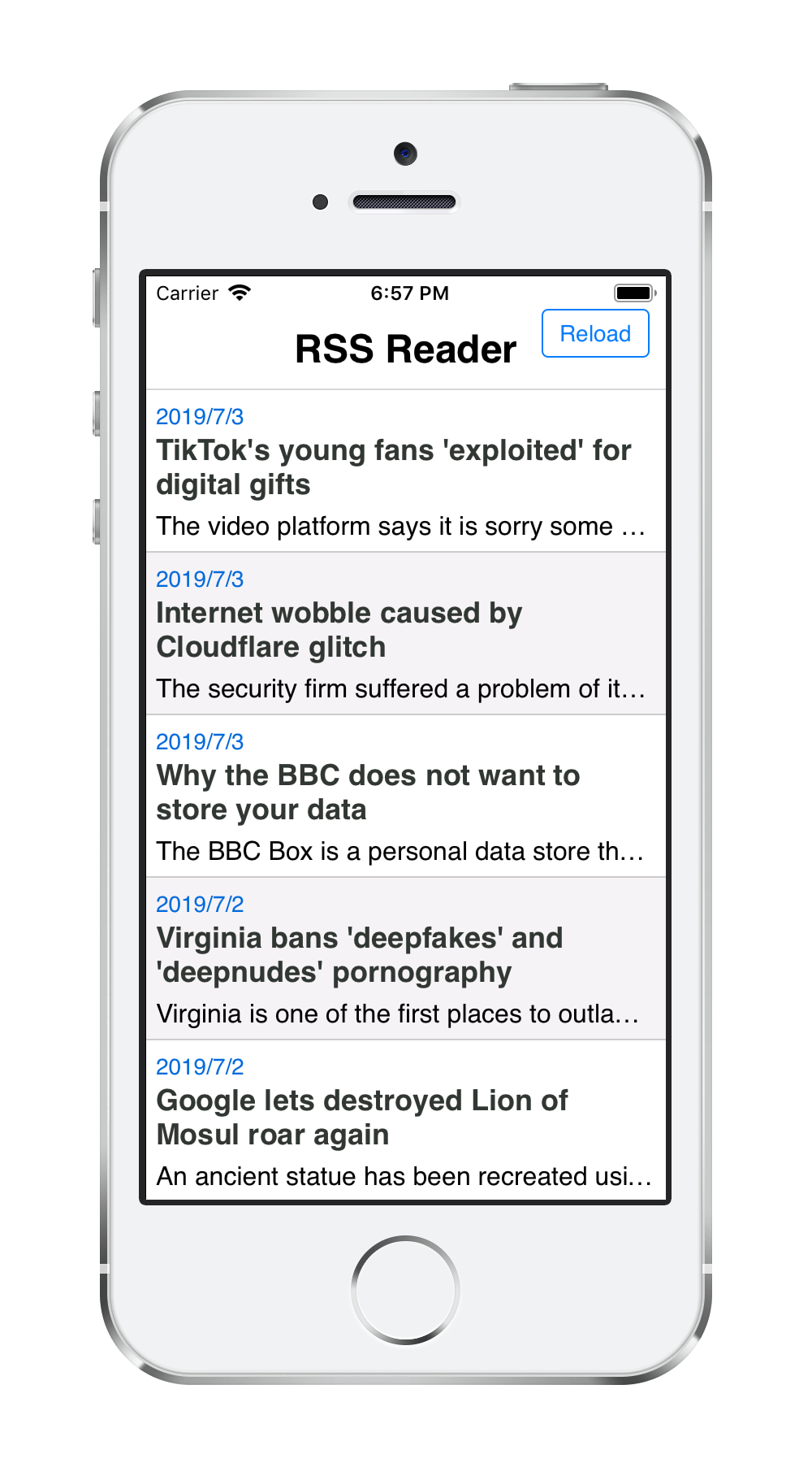 RSS Reader App | Monaca Docs